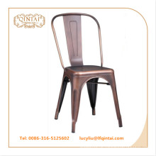 Vintage Metallstuhl Kupfer Farbe Loft Stuhl