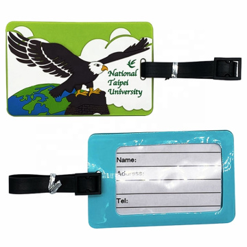 Safety Travel Airline Soft PVC  3D  Rubber  Luggage Tag