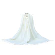 2016 New Jacquard Winter Pashmina Mode Schal Schal Weiß Farbe