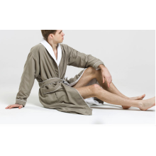 Double Layer Microfiber Towelling  Bathrobe