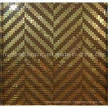 Azulejo Bisazza mosaico de oro para la decoración de la pared (HMP830)