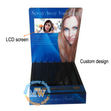 Custom design 7 inch LCD screen free standing acrylic advertising display