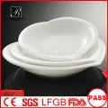 Plaque en forme de coeur en porcelaine, assiettes en porcelaine, usage quotidien en porcelaine blanche plaques en forme de coeur pour l'hôtel