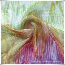 Chiffon de seda para tecidos de impressão
