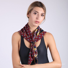 2017 imprimé mode mode femmes écharpe châle imprimé foulard carré en soie