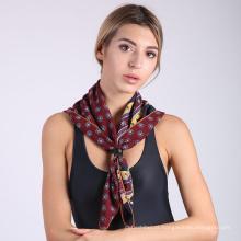 2017 impresso padrão de moda mulheres cachecol xale impresso lenço quadrado de seda