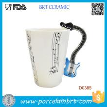 Violon musique poignée mode notes musicales thé café tasse en céramique