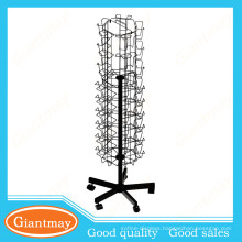 5 sided wire pockets post card display stand