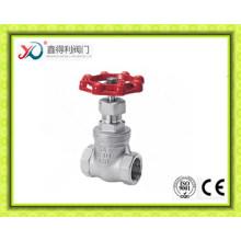 China Fábrica de acero inoxidable CF8 / CF8m roscado válvula de compuerta con certificado Ce