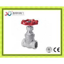China Factory Stainless Steel CF8/CF8m Threaded Gate Valve with Ce Certificate