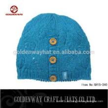 Großhandel bunte Qualität Custom gestrickte Kaschmir Beanie Hut