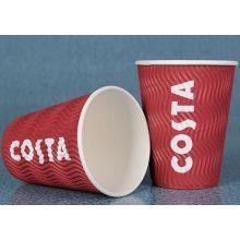 Copo de papel personalizado do café da parede da ondinha