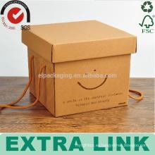 Papel de empaquetado manual de la cera de encargo de la pizza de la comida congelada Caja de cartón acanalada
