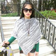 Best quality rabbit ladies rabbit fur scarf shawl