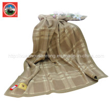 Yak Wool Lattice Blanket/ Cashmere Fabric/ Camel Wool Textile/Fabric/Bedding
