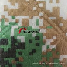 Tissu matelassé imprimé de tissu de camouflage d'Oxford pour la couverture de voiture