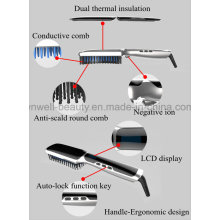 3.Fast Hair Straightener Hot Brush Hair Straightener Comb