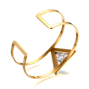 Ladies Wide 14k Guld Turkos Manschett Bangle Armband