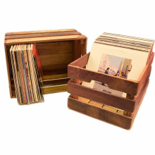 Reclaimed Wood Holds 80 album Record Crate