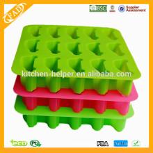 Großhandel China Professional Hersteller Lebensmittel Grade Hausgemachte Antihaft-Schokolade Seife Candy Jelly Silikon Eisform