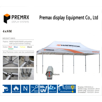 4X8m Складная палатка для палаток с палатками для рекламы Палатка Gazebo