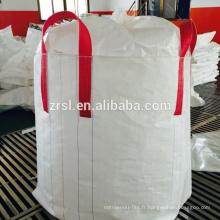 gros sac d'emballage en plastique de nourriture, sac en vrac tubulaire de catégorie comestible / grand sac de riz, sacs de polypropylène 1000 kg