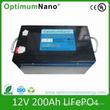 Baterías de litio de 12V 200ah para el sistema de energía solar casero