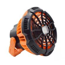 Suporte de luz LED para carregamento de bateria e ventilador solar para acampamento