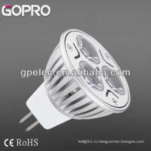 MR16 Светодиодный прожектор GU10 3x1W