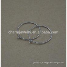 BXG019 Aço Inoxidável Ear Wires Charm Hoops vinho, brinco conclusões para Jóias-Making