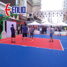 Outdoor Sport Flooring PP Bola Keranjang Court Basket