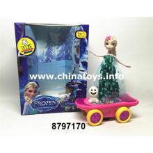 B / O Scooter de brinquedo de boneca de menina com luz e música (8797170)