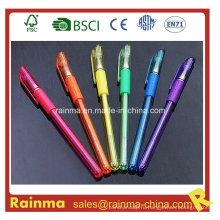 Platic Glitter Gel Pen с многоцветным рисунком