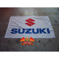 yellow suzuki banner white suzuki flag 90x150cm Suzuki Motorcycle Rider Biker skull Flag For Decoration