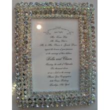 Чистый кристалл уникальный дизайн фото рамка 4 x 6 дюймов