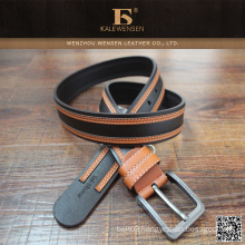 Fashion custom made wholesale braided pu belt for men