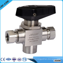 3 way female thread ball valve