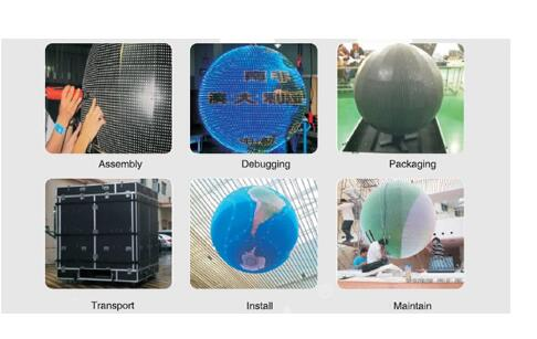 wide view angle high gray scale LED Sphere Display