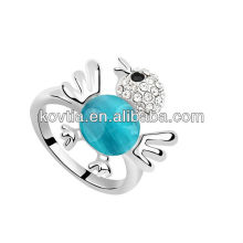 Fashion hot sale lovely opal white gold ring