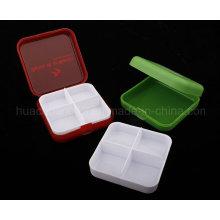 Boîte à pilules 4 grilles, boîte à pilules en plastique Plb24