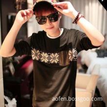Men Autumn Cotton T Shirts Front Pocket Printing tshirts 2013 Men New