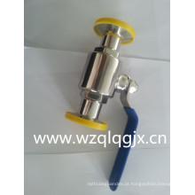 304 / 316L Válvula esférica sanitária de aço inoxidável