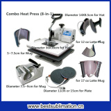 Bestsub 8-in-1 Combo Dye Sublimation Transfer Printing Heat Press Machine (SD72)
