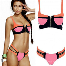 Printed Padded Bandeau Bikini Swimwear