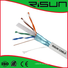 Cable LAN de alta calidad UTP / FTP / SFTP CAT6 cable 4pr 23AWG Bc CCA