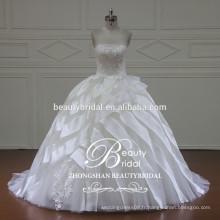 XF16052 robe de mariée robe de mariée avec une robe de mariée en organza de luxe 2017