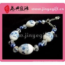Extravagante porcelana mulheres jóias pulseiras