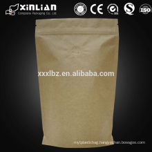alibaba supplier kraft stand up pouches/bags for food foil/paper bag with clear window