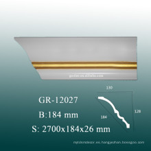 Easy Installion PU Baseboard Molding para la decoración del hogar