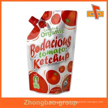 Biodegradable food grade packaging pouch with spout doy pack bag